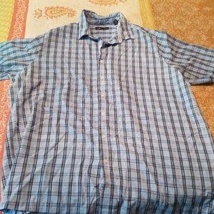 Men's button down short sleeve XL tall